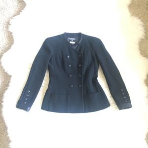 Chanel Pure Wool Black Blazer France 96C 38